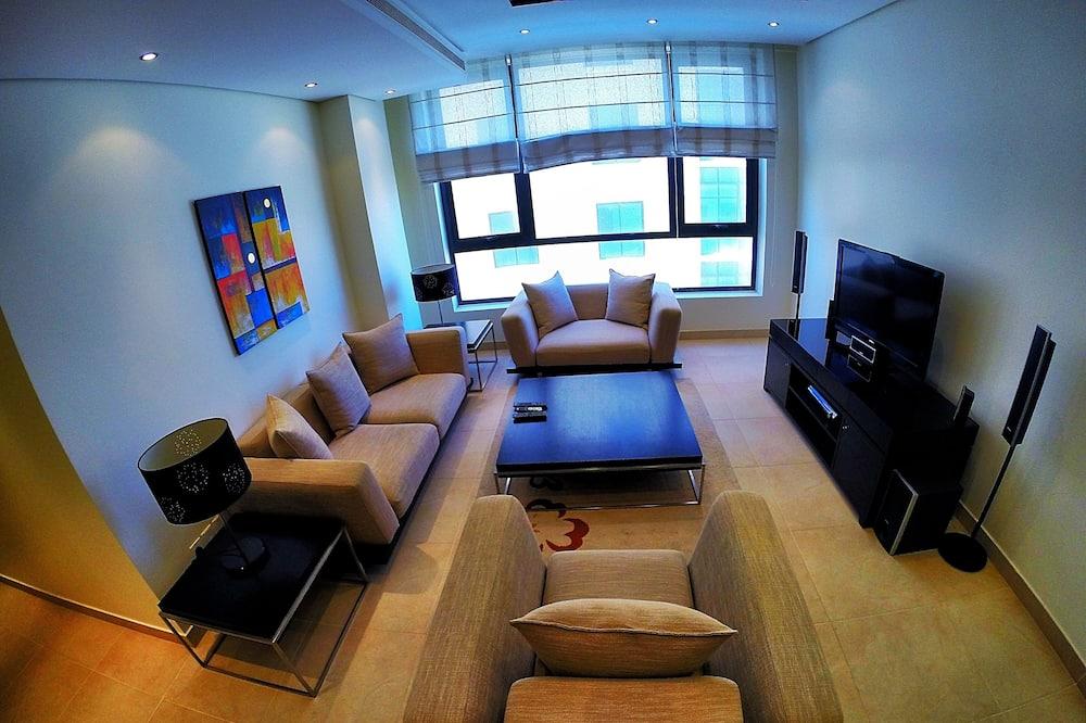 經濟公寓, 2 間臥室, 吸煙房, 城市景觀 - 客廳