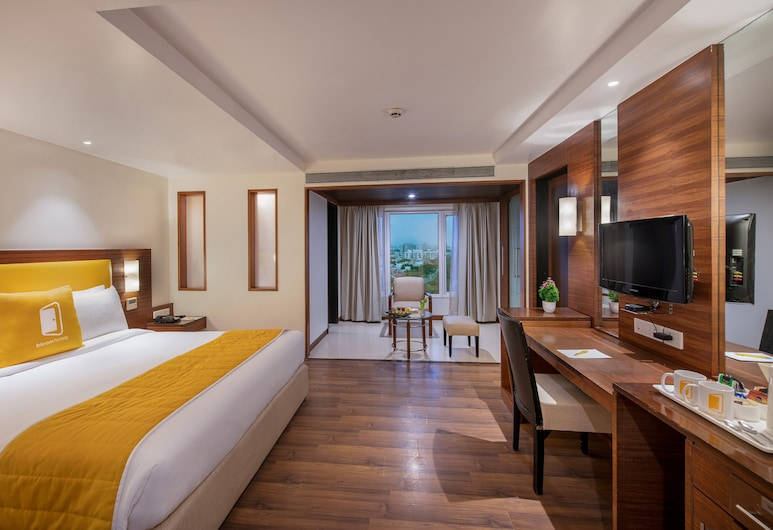 BloomSuites   Ahmedabad, אחמדאבאד, חדר דה-לוקס, חדר אורחים
