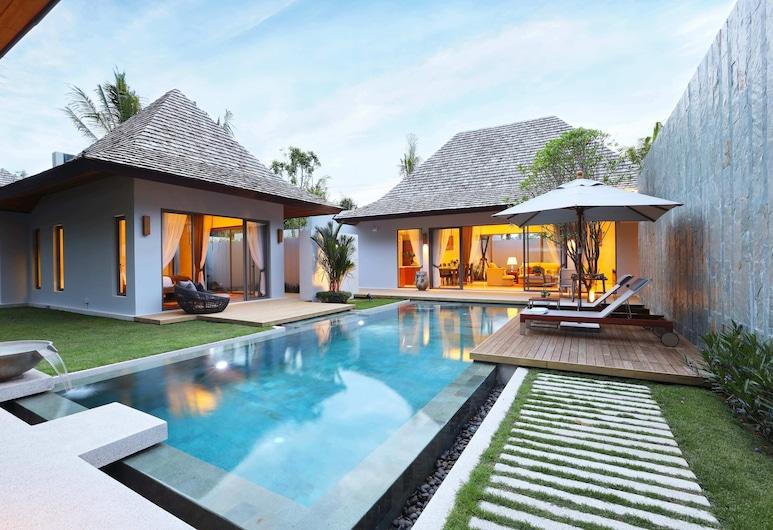안찬 빌라, Choeng Thale, 4 Bedrooms with Private Pool Villa, 발코니