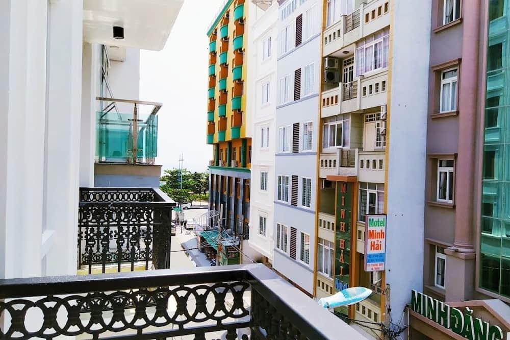 Deluxe-Vierbettzimmer - Blick vom Balkon