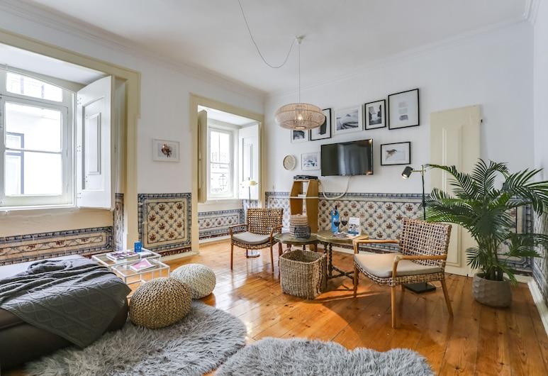 Sweet Inn Apartments -  Almada, Lisabon, Apartmán, 2 spálne (Travessa do Almada, 20 1E), Obývacie priestory