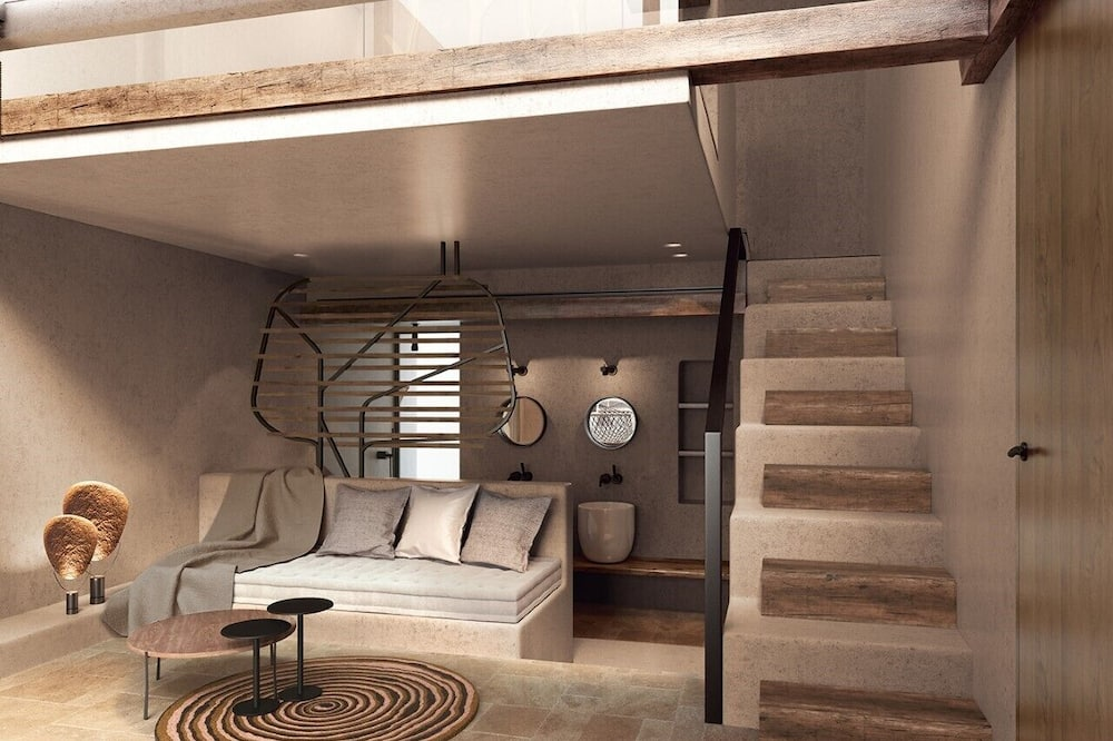 Loft (Sea View with Private Infinity pool) - Living Area