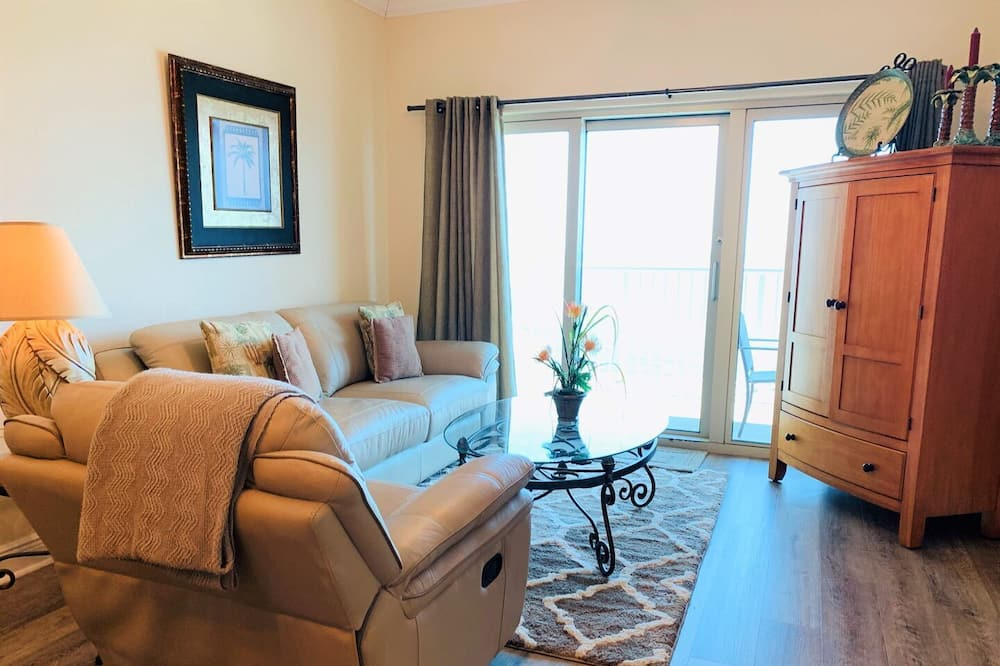 Condo, 2 Bedrooms, Balcony, Beach View (1408) - Living Area