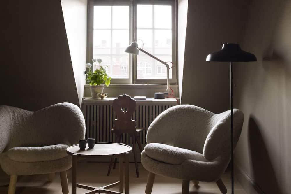Номер «Делюкс», 1 двуспальная кровать «Кинг-сайз», вид на сад - Зона гостиной