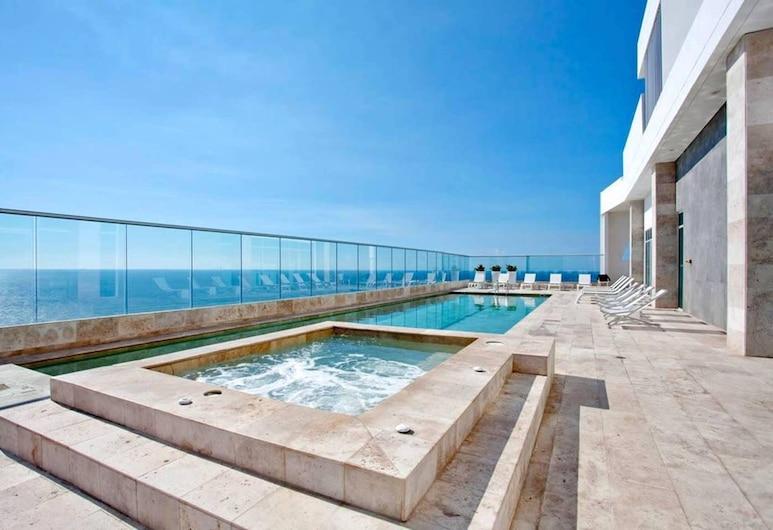 Modern 1BR WiFi Breathtaking Ocean Views, Cartagena, Basen odkryty
