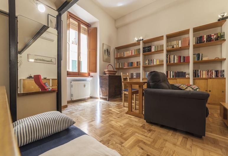 Lovely Loft Trastevere, Rome, Apartment, 2 Bedrooms, Living Area