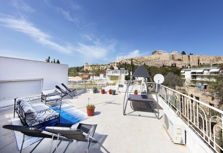 Your Home under the Acropolis Roofdeck, Athens, Apartment, 3 Bedrooms, Bilik