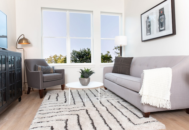 WhyHotel Arlington Pentagon Columbia Pike, Arlington, Luxury-Apartment, 1 Schlafzimmer, Wohnbereich