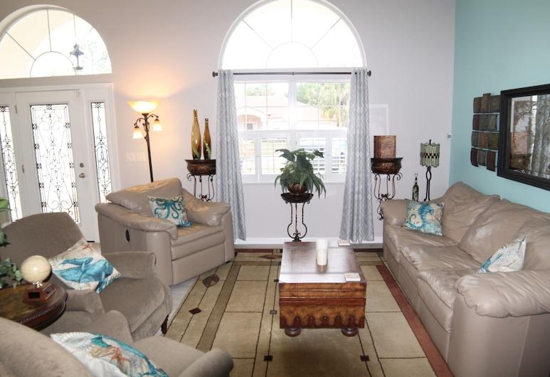 Blue Heron Villa, Palm Coast, Rumah, Beberapa Tempat Tidur, kolam renang pribadi, pemandangan sungai, Ruang Keluarga