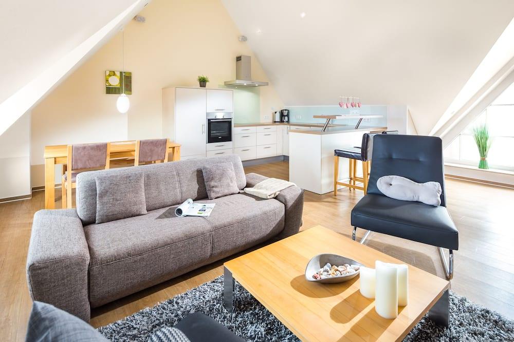 Apartamentai, vaizdas į jūrą (Oberdeck, incl. EUR85 Cleaning Fee) - Svetainės zona