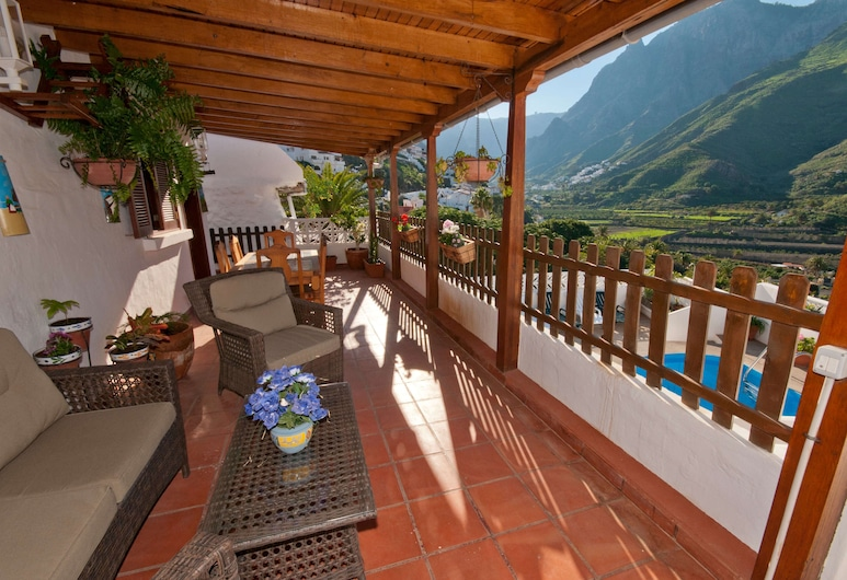 Casa vacacional piscina privada Agaete I, Agaete, Leilighet, 3 soverom, privat basseng, utsikt mot fjell, Balkong