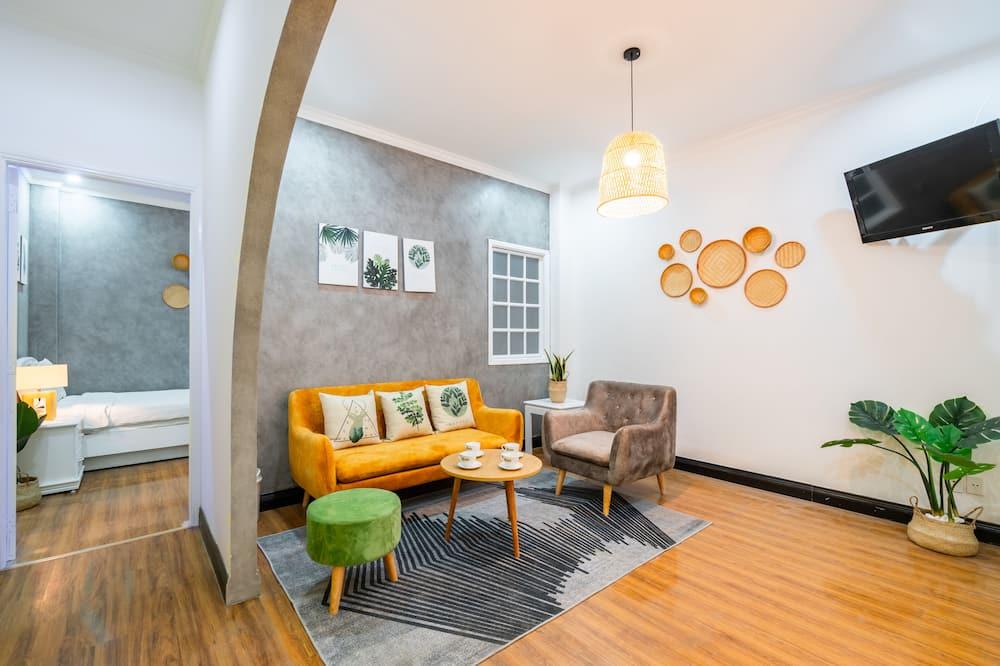 Design studio, 1 kingsize bed, keuken - Woonruimte