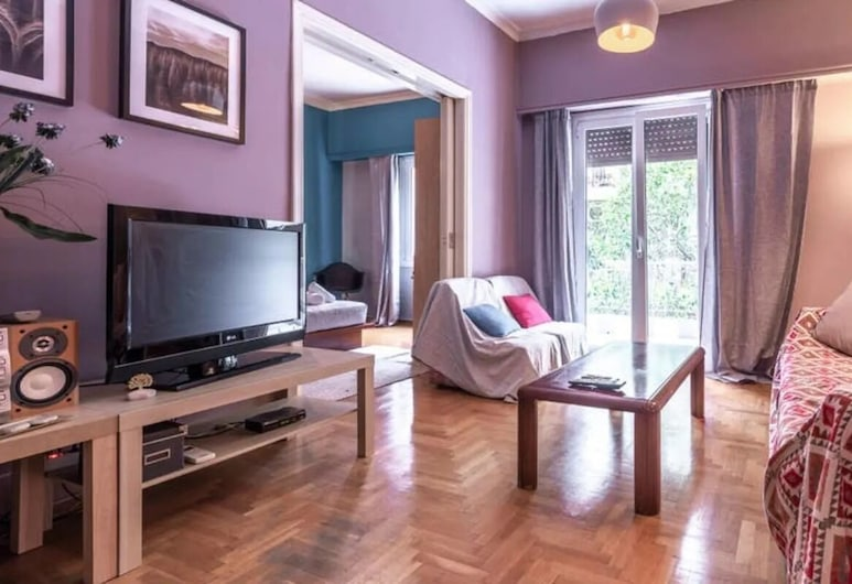 S&K Polyxene Suite in Center of Athens, Athens, Apartment, Ruang Tamu