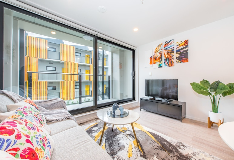 Ehome - Brand New Designed & Stunning Apartment In CBD, Auckland, City Apartment, 1 Bedroom, Non Smoking, Living Area