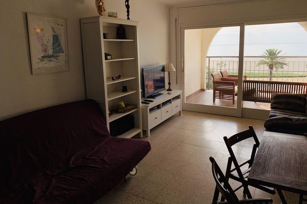 Apartment, 1 Schlafzimmer, Meerblick - Wohnbereich