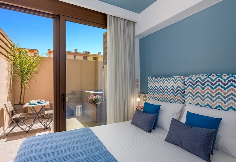 Aretousa Suites, Chania, Apartment, Private Pool, Pool View, View from room