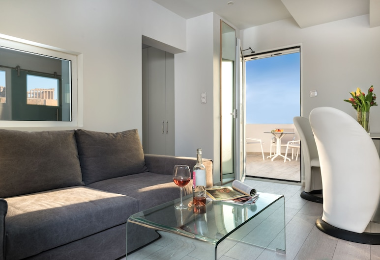 Acropolis Junior Suite, Atenas, Apartamento júnior, Área de estar