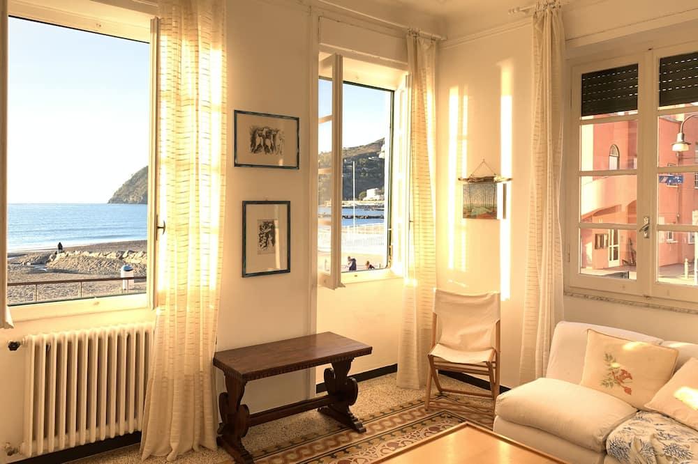 Departamento, 3 habitaciones, vista al mar (Via Gaetano Semenza 2) - Sala de estar