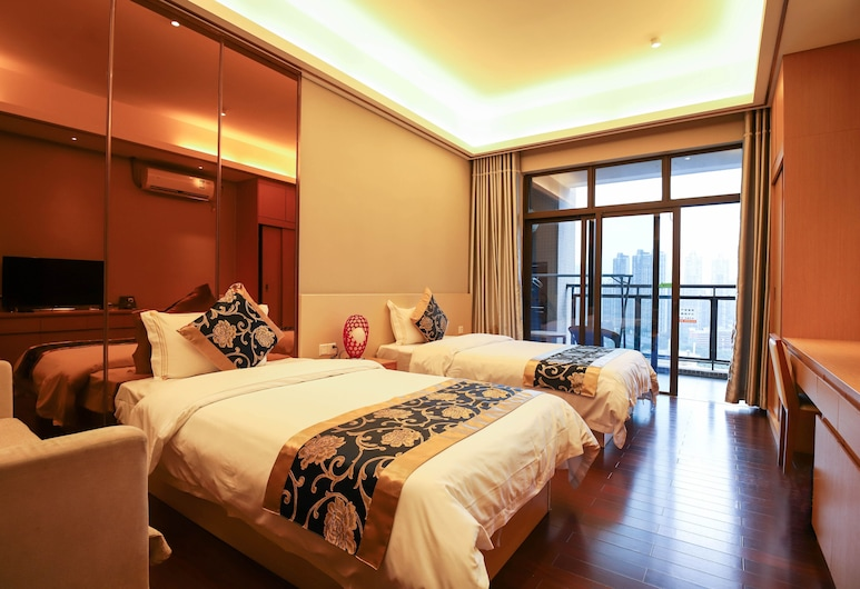 帕斐樂酒店公寓, 廣州, 園景雙床房, 客房