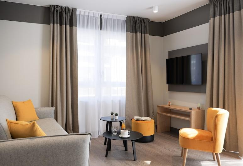 Plan B Hotel - Living Chamonix, Chamonix-Mont-Blanc, Comfort Apartment (2 Pièces, Vue Mont Blanc), Living Room