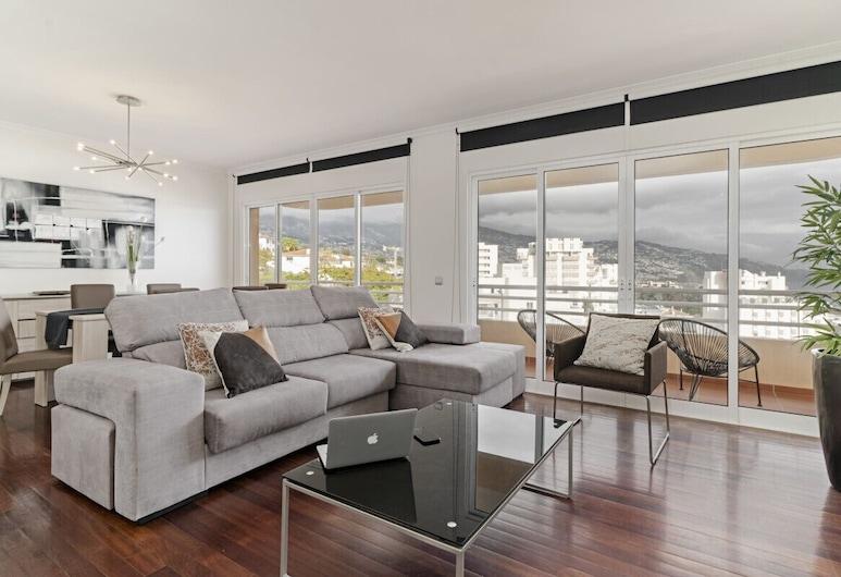 卡薩布蘭卡 IV 號公寓飯店 - 附海景, 芳夏爾, 公寓 (2 Bedrooms), 客廳