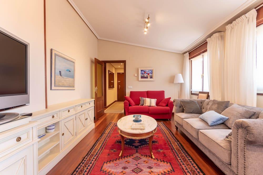 Penthouse, 3 chambres - Coin séjour