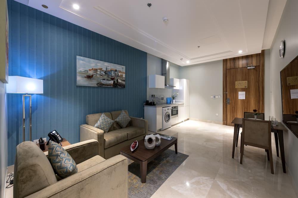 Premier Apartment, 1 Bedroom - Living Room