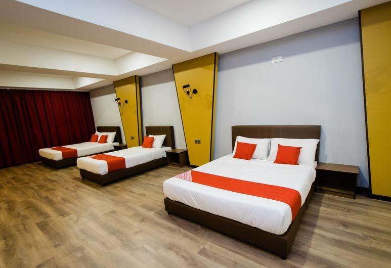 OYO 89456 V Motel, סיבו, חדר משפחתי זוגי, מספר מיטות, חדר אורחים