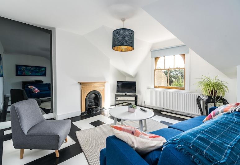 時髦海布里新驚人 1 房公寓酒店, 倫敦, 公寓 (1 Bedroom), 客廳