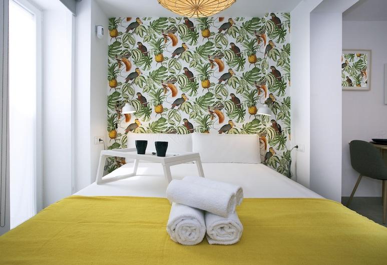 Lemon & Tropycal Apartment, Torremolinos, Appartement, 1 slaapkamer, terras, Kamer
