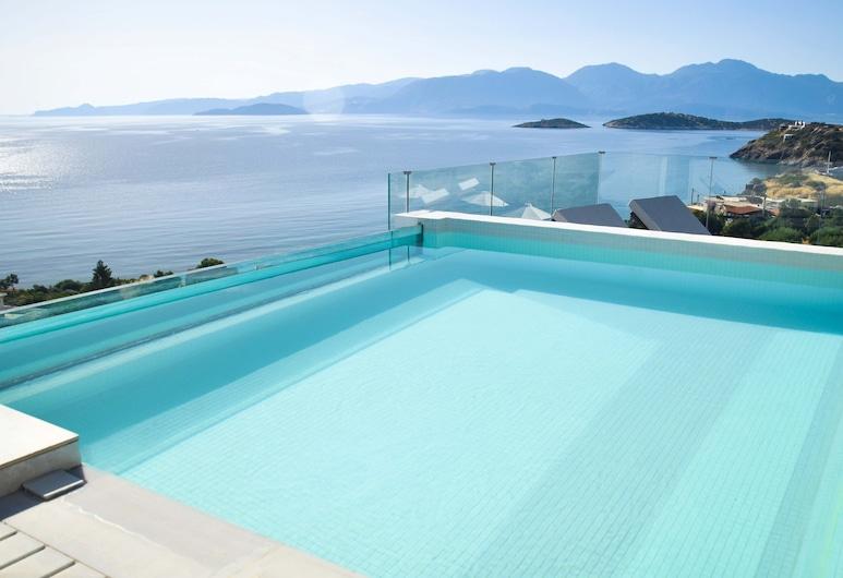 Meliti Hotel - Adults Only, Ayios Nikolaos, Suite, piscina privada, vista al mar, Piscina privada