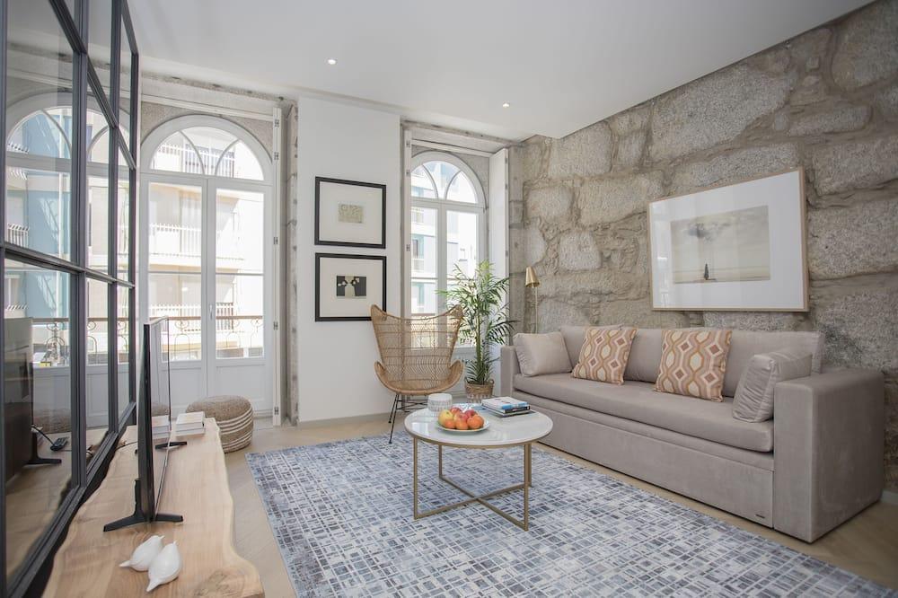 Prabangaus stiliaus apartamentai, 1 miegamasis (IV) - Svetainė