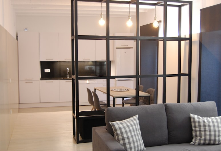 Apartamento Guesting Basilica 3, Χερέθ Ντε Λα Φροντέρα, Διαμέρισμα, 1 Υπνοδωμάτιο, Μπαλκόνι, Περιοχή καθιστικού