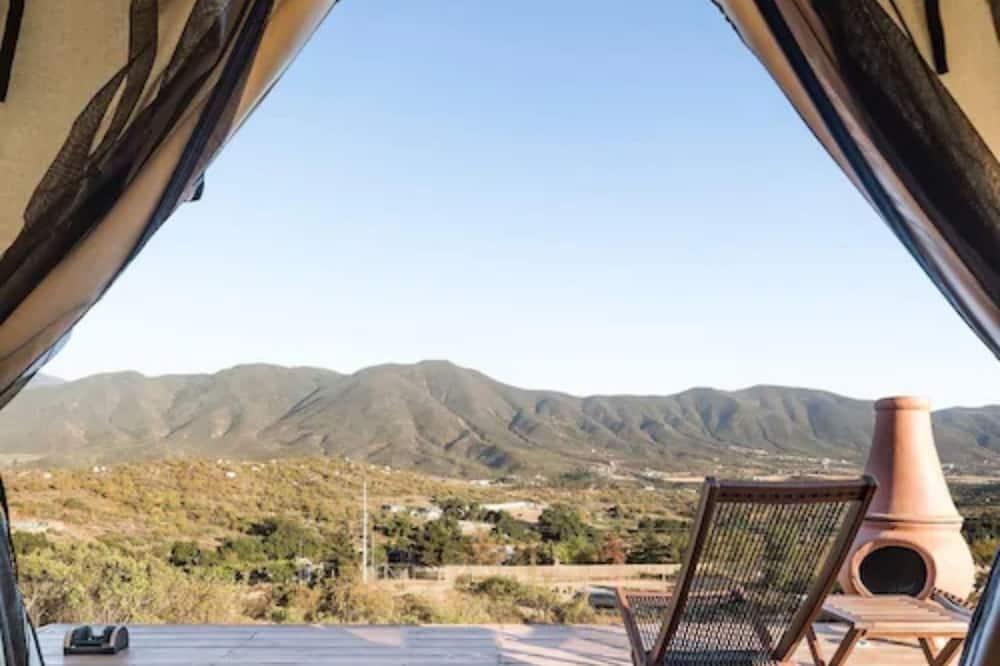 Tenda Deluxe, 1 cama king-size, Vista Montanha - Terraço/Pátio Interior