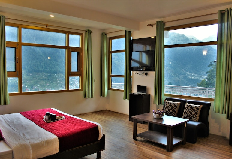 Yoyo's World Nasogi Heights, Manali, Premium dvokrevetna soba, 1 king size krevet, Dnevni boravak