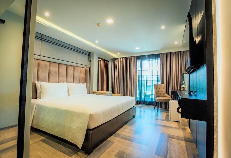 First Pride Hotel, Bangkok, Deluxe  King Room No Balcony, Oda