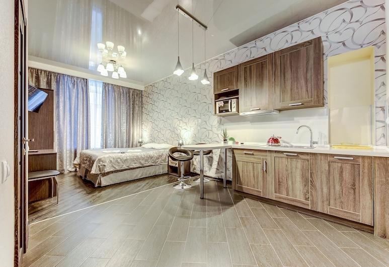 Neotel Apartments M. Moskovskaya, Skt. Petersborg, Comfort-studiolejlighed, Værelse