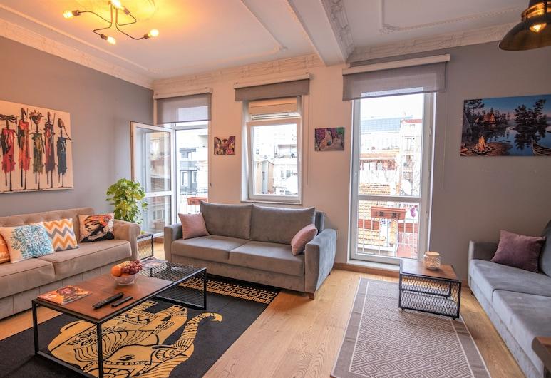 塔克西姆圖杜尊爵公寓, 伊斯坦堡, 尊尚公寓, 2 間臥室, 城市景, 客廳
