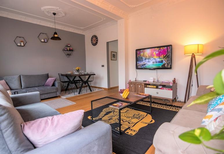 Twodo Exclusive Apart Taksim, Istanbul, Luxury Apartment, 2 Bedrooms, City View, Living Room