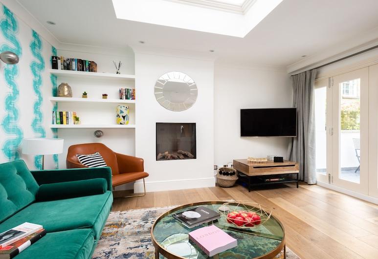 切爾西大眾酒店 - 現代 2 房公寓附露台, 倫敦, 公寓 (2 Bedrooms), 客廳