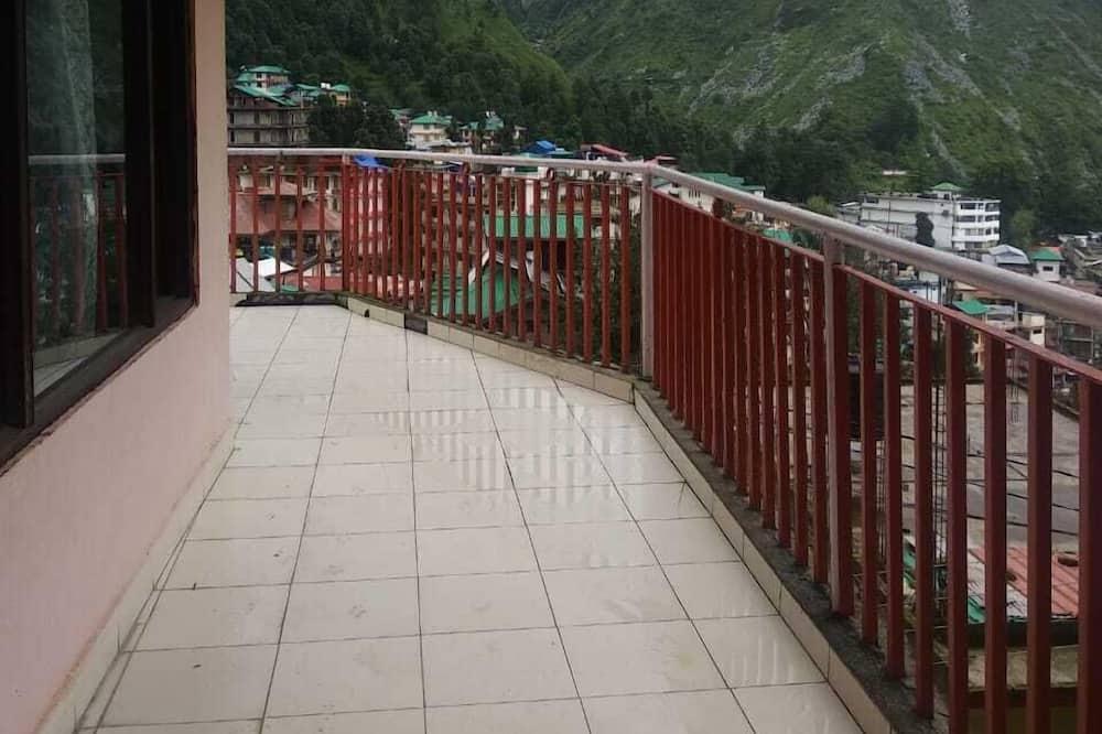 Deluxe maisonnette - Uitzicht vanaf balkon