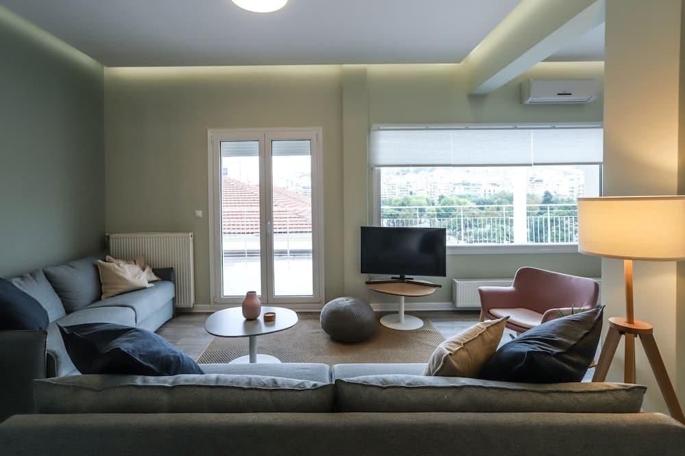 Luksuzni penthouse, 2 spavaće sobe, pogled na grad - Dnevna soba