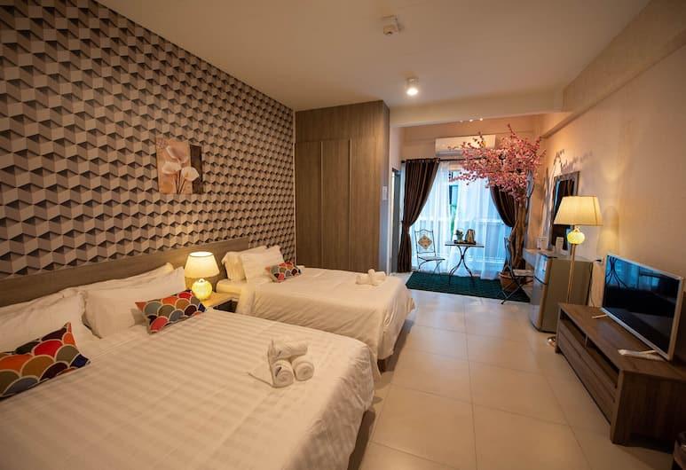 Water Aparthotel, Bangkok, Deluxe Family Room, Bilik Tamu