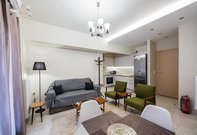 #halu! Μοντέρνο διαμέρισμα στο κέντρο, Θεσσαλονίκη, Standard Διαμέρισμα, 2 Υπνοδωμάτια, Περιοχή καθιστικού