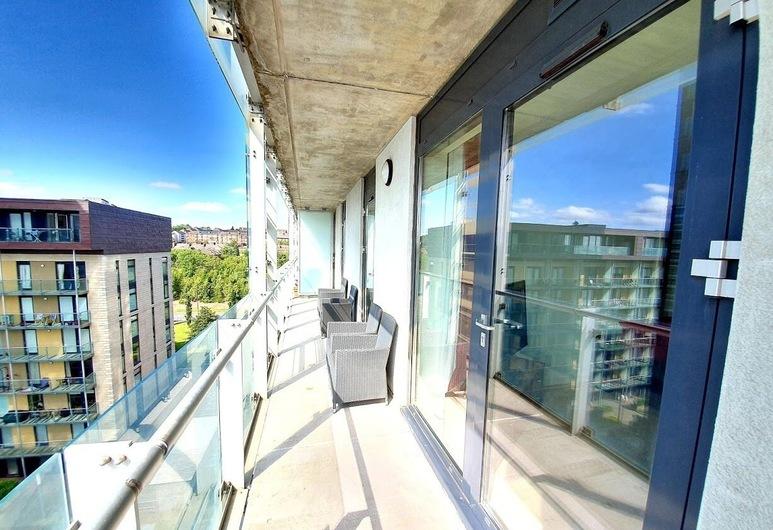 Airy 2 Bed 2 Bathroom With Balcony, Glasgow, Apartment, 2Schlafzimmer, Balkon, Balkon