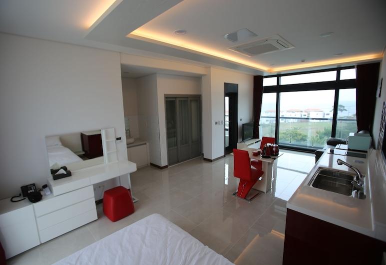 J 白色飯店, Jeju City, 雙人房 (Red), 客廳