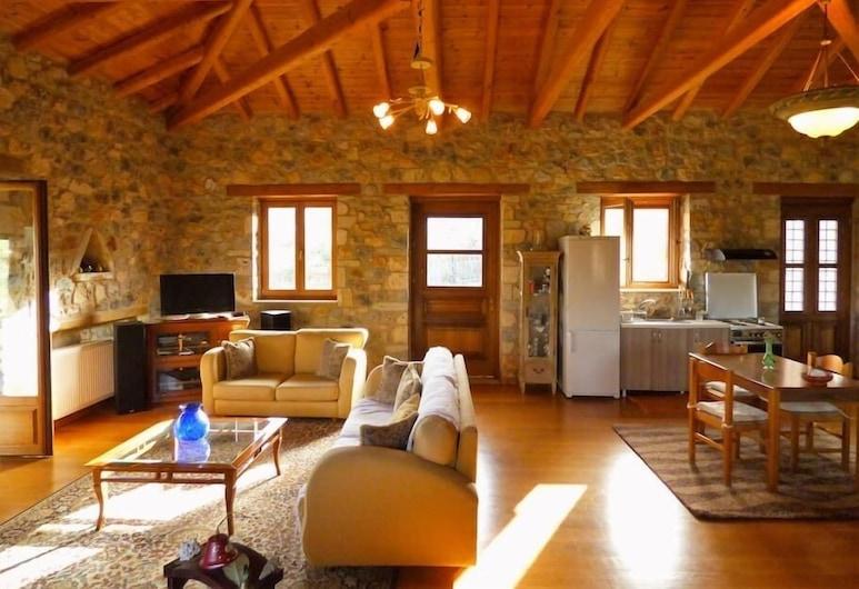 Luxurious Mansion in olive grove & view to Mystras, Sparta, Hus - 2 soveværelser - bjergudsigt, Opholdsområde