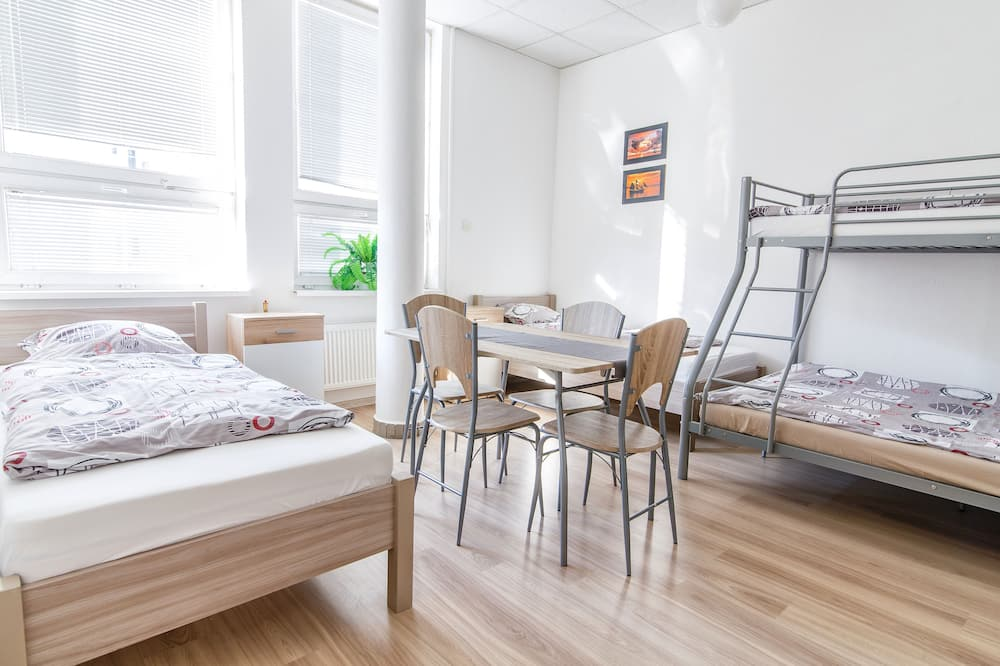 Standard Shared Dormitory (one  bed  in  6 persons  room) - Living Area