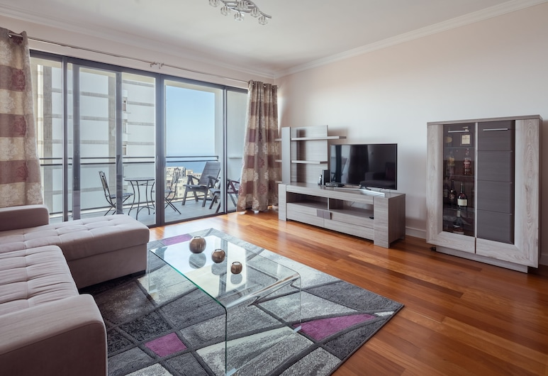 25 - 優雅公寓附海景飯店, 芳夏爾, 公寓, 2 間臥室, 海景, 客廳