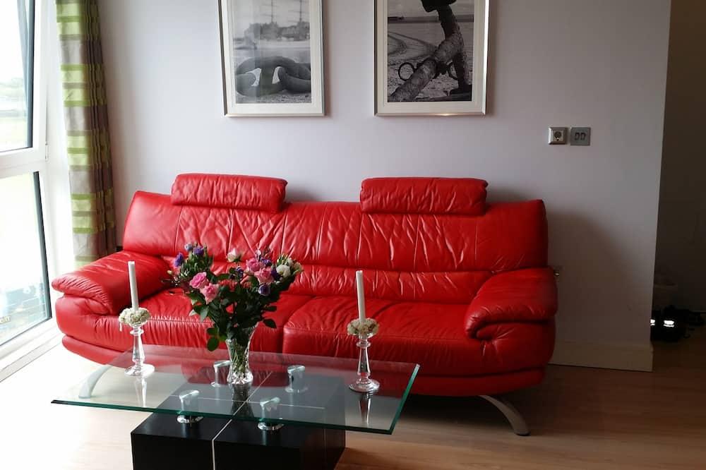 Štúdiový apartmán typu Deluxe, kuchynka, výhľad na mesto (1) - Obývacie priestory